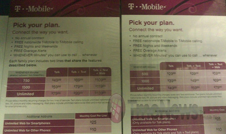 T-Mobile's Project Dark: $99.99 unlimited on Even More, $79.99 on Even More Plus?
