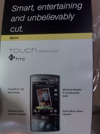 HTC Touch Diamond stuff showing up in Sprint stores