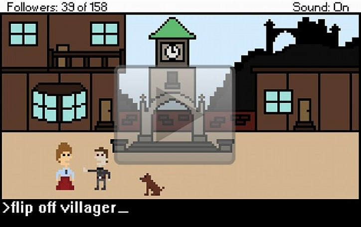 Fable re-imagined as 8-bit adventure game
