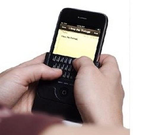 What will they think of next? A real keyboard for the iPhone