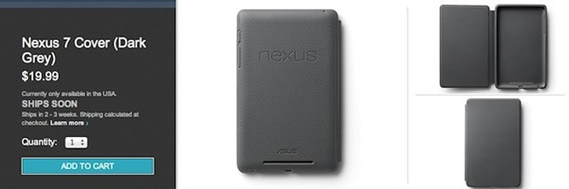 Google's Nexus 7 cover turns up on the Play store, will set you back $20