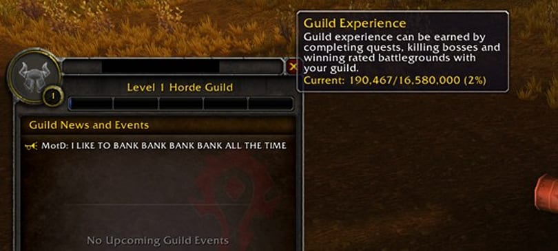 Limits on guild leveling and reputation removed in patch 5.0.4