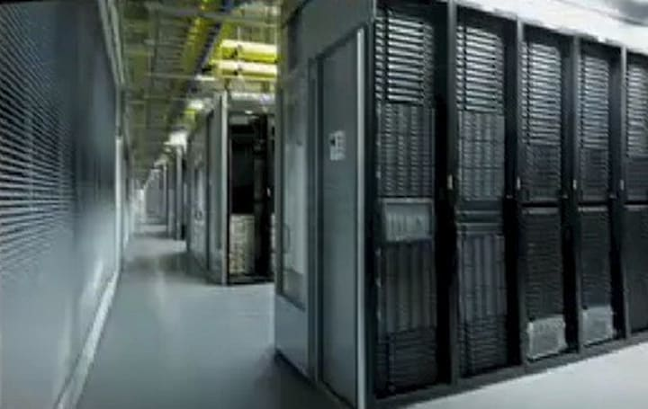 A video aerial view of Apple's NC data center