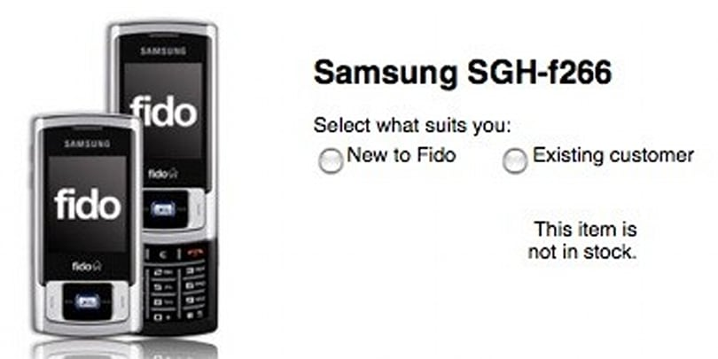 Fido launches low-end slider, the Samsung SGH-F266