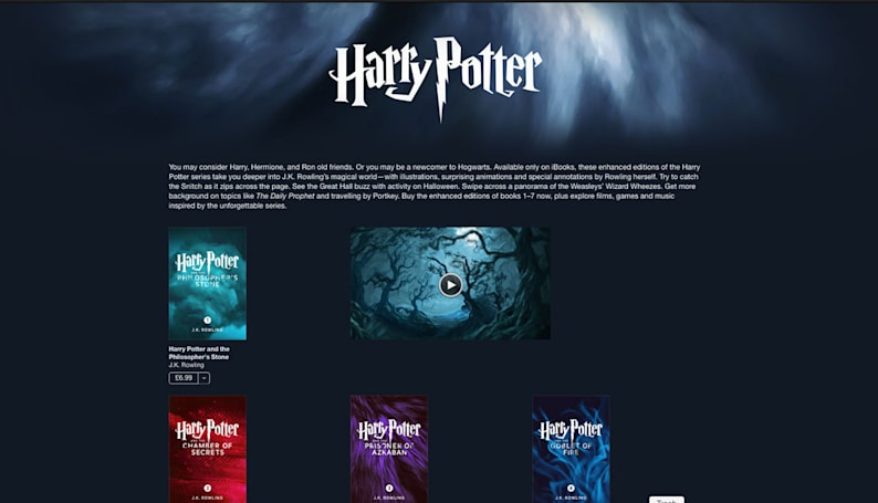 Illustrated 'Harry Potter' novels come to iBooks