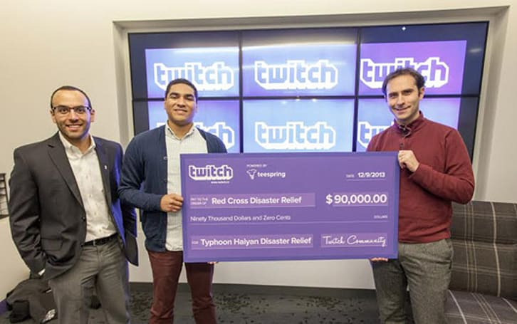Twitch exceeds charity milestones, raises $90K for Typhoon Haiyan relief