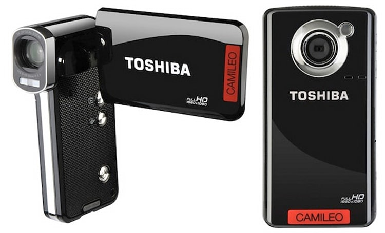 Toshiba intros Camileo P100 and B10 pocket camcorders, strays from tried-and-true pistol grip