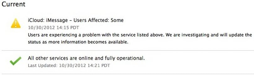 Apple iMessage sees second outage in a week, iTunes UK follows suit (update: back up, in theory)