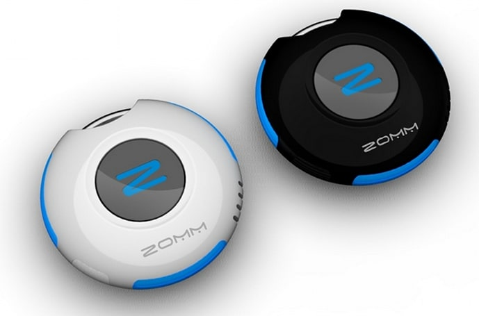 ZOMM uses Bluetooth to tether you to your phone, your phone to you