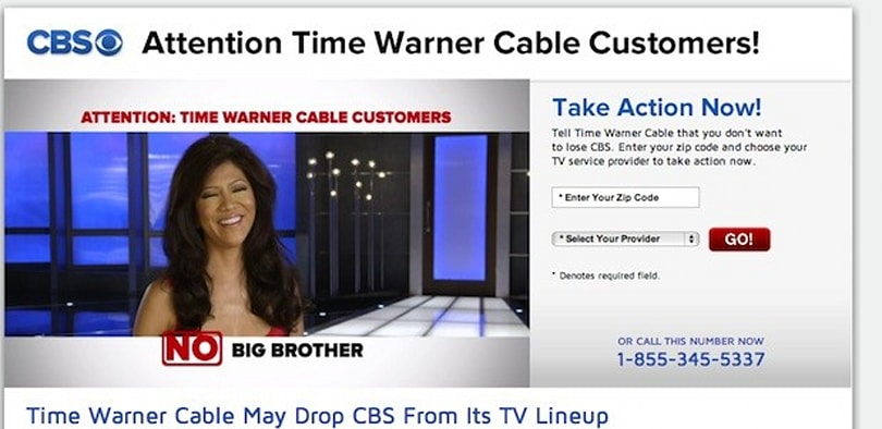 Time Warner Cable drops CBS in NYC, LA and Dallas (update: maybe not)