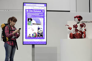Adorable robots help travellers at Tokyo's Haneda airport