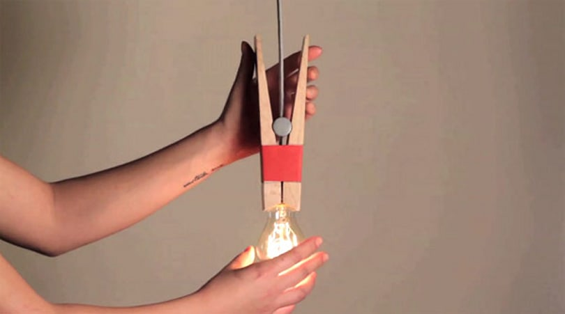 Peg lamp lets us spend less time screwing in light bulbs, more time talking about them (video)