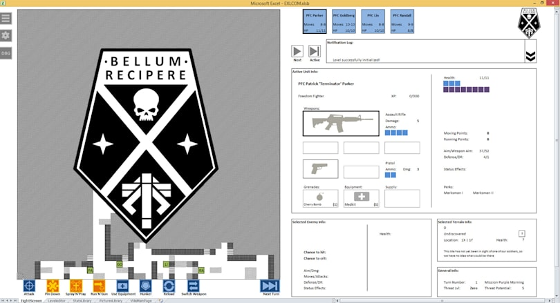 An 'XCOM' game in Excel beats playing with spreadsheets