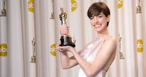 anne hathaway was actually miserable when she won her oscar