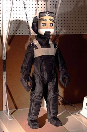 Proto-2 humanoid robot auditions for Thunderbirds 2.0