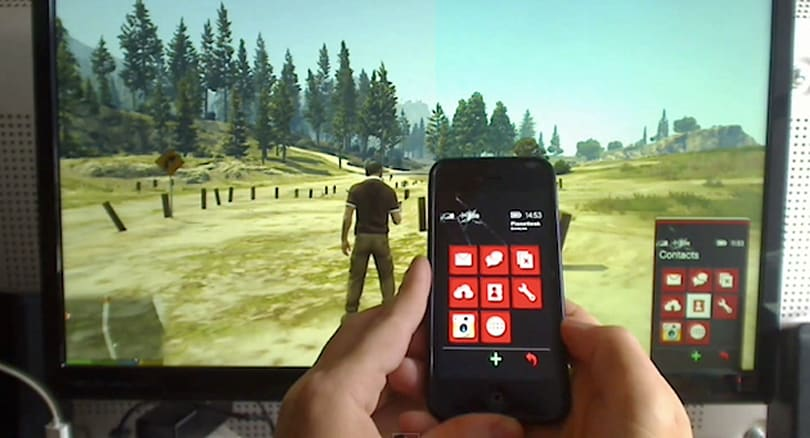 Control the 'GTA V' cellphone with an iPhone, Arduino and a hack
