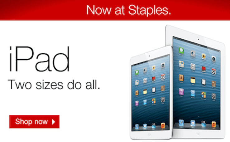 Staples begins selling iPads and iPods