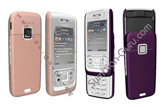 Nokia E65 spotted dressed in purple and pink
