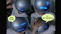 Mask of Emotion displays your feelings via LED emoticons, we cry/laugh/yawn