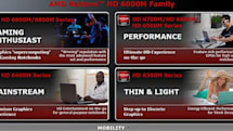 AMD launches Radeon HD 6000M series, endows them with HD3D and EyeSpeed skills