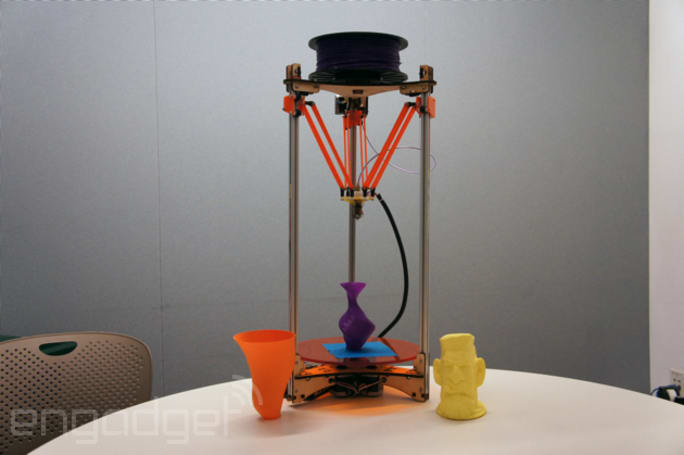 Deltaprintr: a quick, tall 3D printer for under $700 (video)