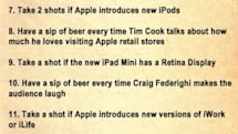 Apple Media Event Drinking Game