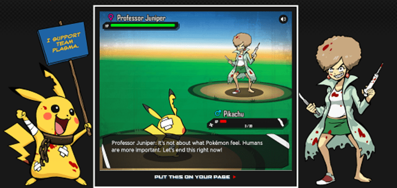 PETA parody 'Pokemon Black and Blue' fights for fictional animal rights