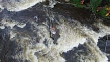 Drone helps rescue trapped rafters