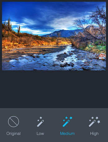 DarkLight is a very likable free image editor for iOS