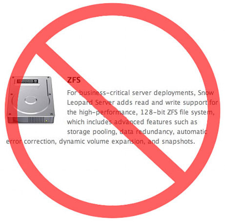 ZFS open source project abruptly shuts down, Snow Leopard weeps icy tears