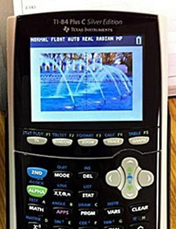 TI-84 calculator with color screen surfaces, geeks giddy with anticipation