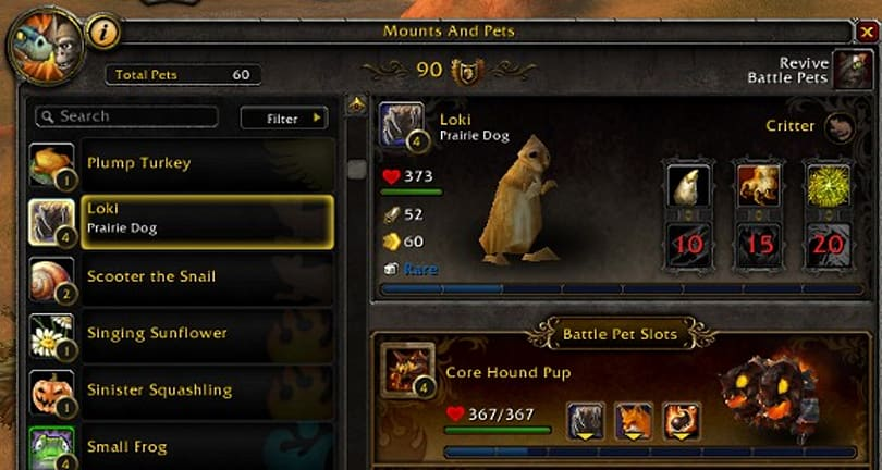 Comprehensive Battle Pet database from Alt:ernative