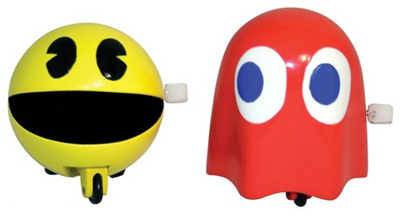 Decorate your own maze with Pac-Man wind-up toys