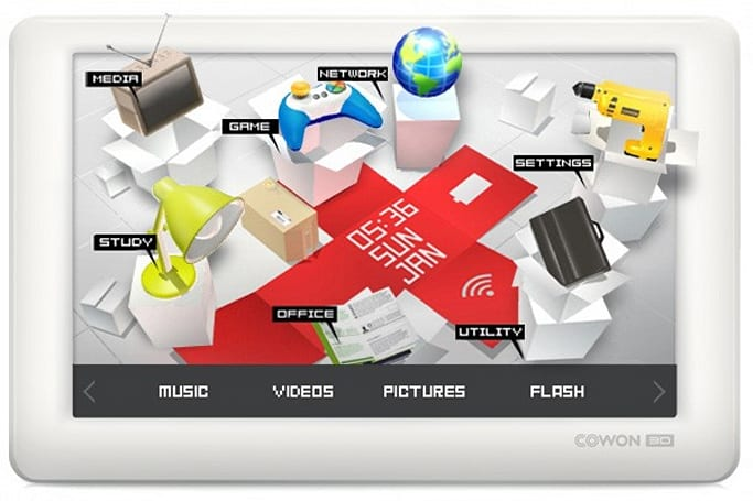Cowon 3D is the 1080p-playing, 4.8-inch PMP that just jumps out at you