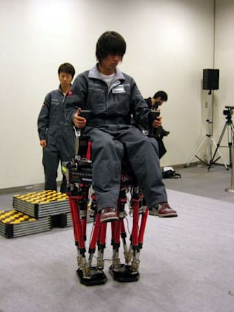 Waseda's two-legged, stair-climbing robot in action