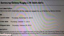 Bell may get Samsung Galaxy Rugby LTE on November 1st, give Canadians rough and tumble 4G