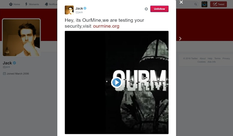 Twitter remains quiet about OurMine attack on its CEO's account