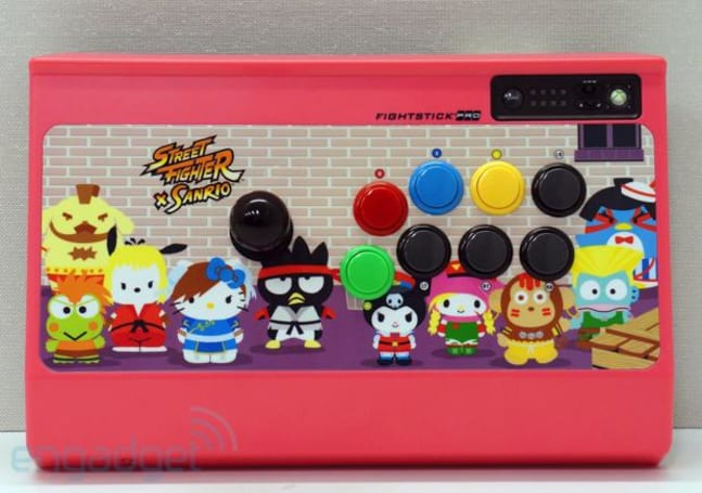 Cute quotient overload: eyes-on with the Street Fighter x Sanrio Fightstick for Xbox 360