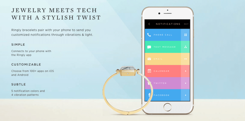 Ringly is back with a vibrating, activity tracking bracelet