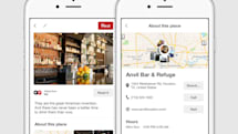 Pinterest's location pins offer easy access to directions and tips
