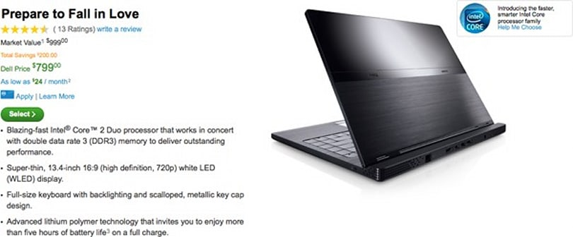 Dell Adamo now even cheaper, slightly less powerful