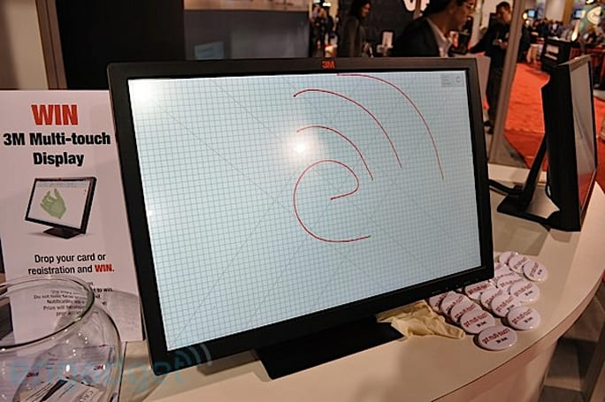 3M M2256PW 10-finger multitouch display hands-on (with video)