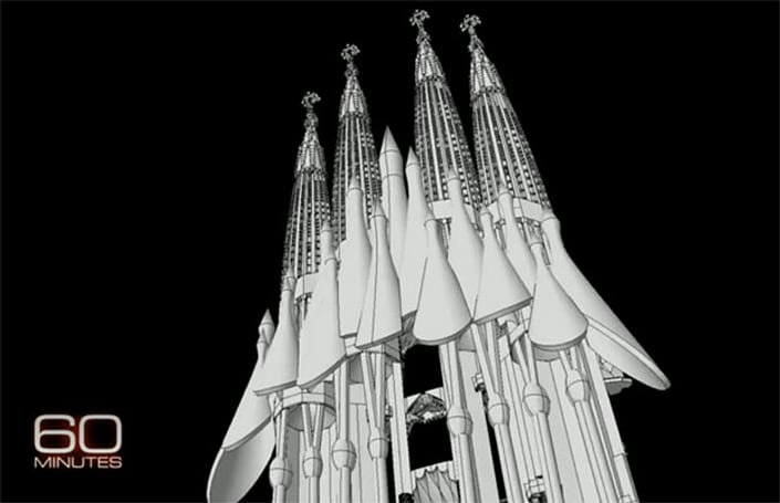 '60 Minutes' shows how Gaudi's Sagrada Familia inches toward completion, with help from some aeronautical software