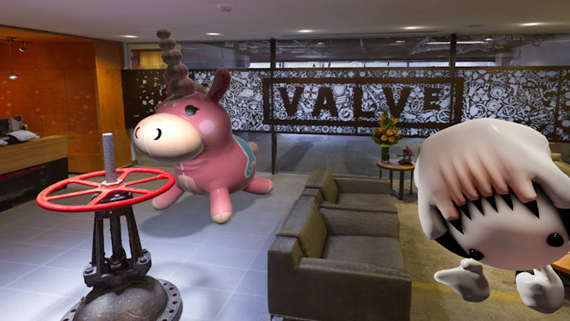 Roam the Valve HQ reception in VR and find the cake already