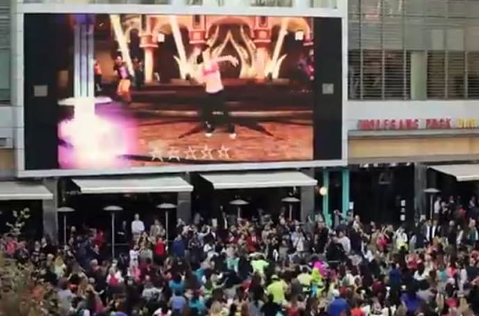 Zumba Fitness Rush gets thousands to dance in LA (Look, it's mom!)