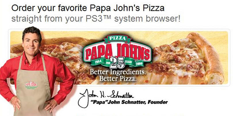 PS3 gains instant pizza-ordering functionality