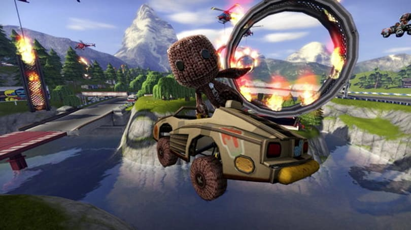 Sackboy joins the ModNation Racers