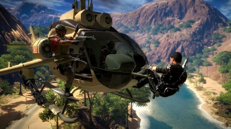 Just Cause 2 demo falling from the sky any day now
