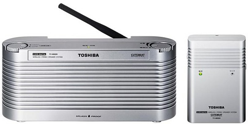 Toshiba's TY-WSD9 wireless waterproof speaker gives Japanese shower singers an upgrade