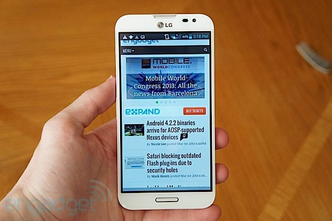 LG outs eye recognition tech for Optimus G Pro, other features in April update